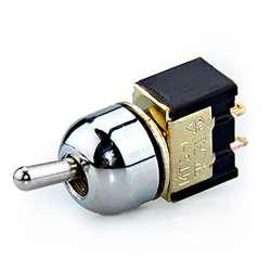 Mini interrupteur à levier ou à bascule unipolaire ON/OFF avec capuchon enjoliveur