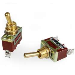 Interrupteur à levier ou à bascule unipolaire ON/OFF avec bornier à vis
