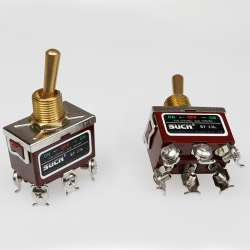 Interrupteur à levier ou à bascule On / Off / On double circuits